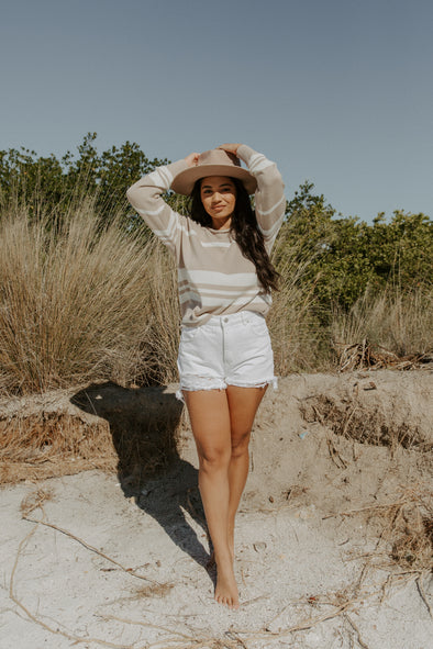 ROLLA'S High Waist White Denim Short