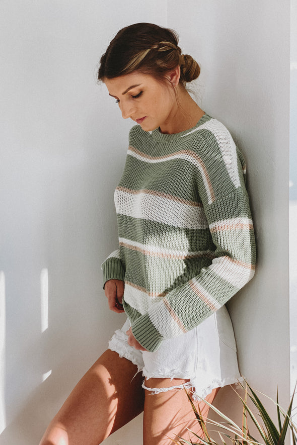Clovers Stripe Pullover