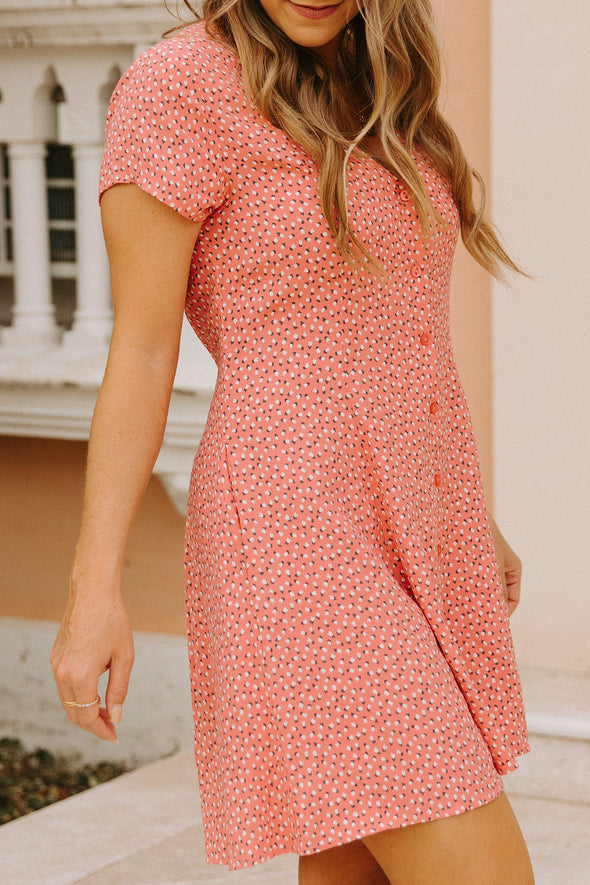 Milla Tulip Coral Swing Dress