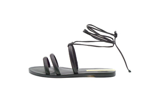 Flamengo Black Ankle Wrap Sandal