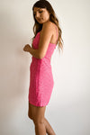 April Hot Pink Mini Tulips Dress