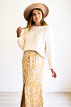 Feeling Fancy Chenille Cream Sweater