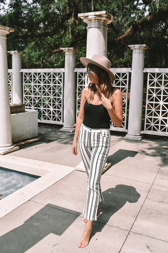Knox Mid Rise Stripe Pants