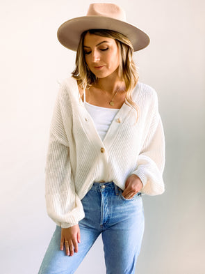 Noelle Cream Knit Cardigan