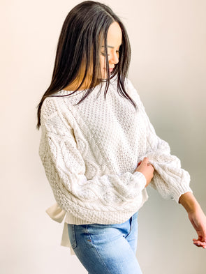 Line & Dot Jamie Tie Back Sweater
