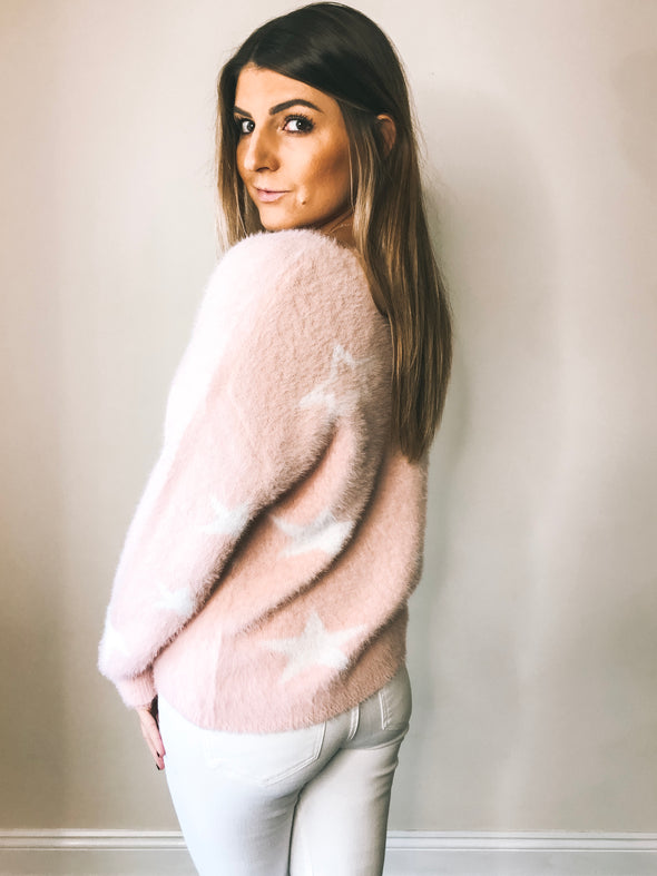 Starlight Fuzzy V-Neck Sweater