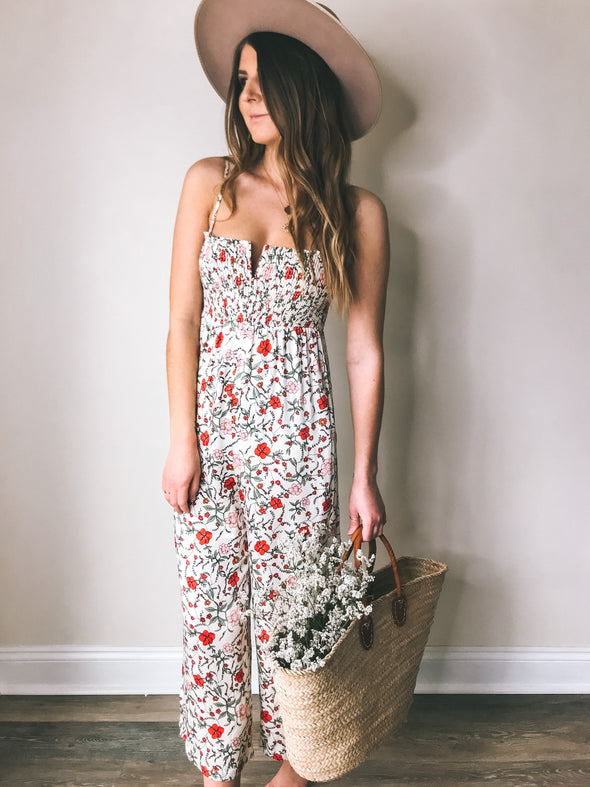 Knot Sisters Jessica Floral Jumpsuit