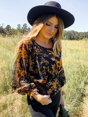Nora Floral Blouse
