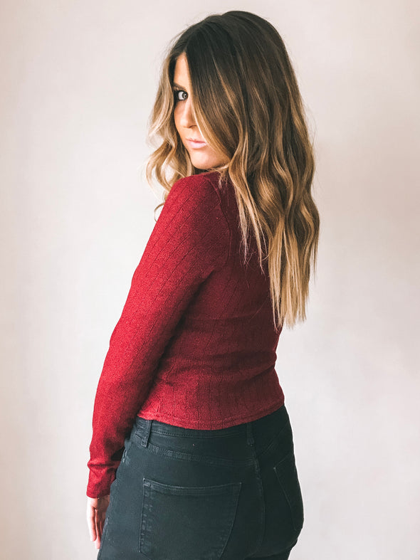 Cozy Up Twist Front Sweater