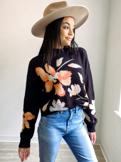 Florence Floral Knit Sweater // MINKPINK