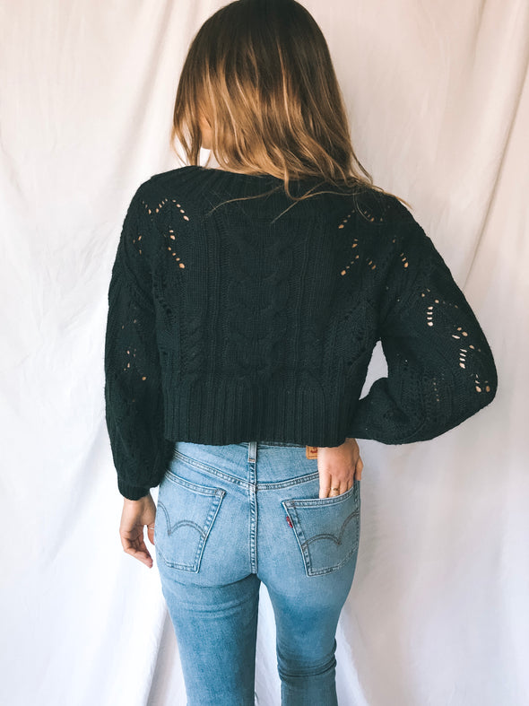 Zara Cropped Off Shoulder Sweater