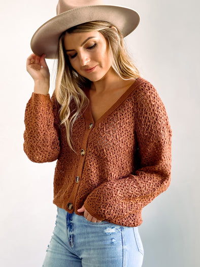 Cocoa Button Down Cardigan