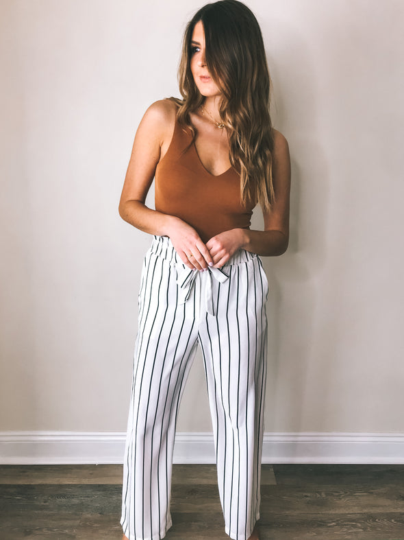 Making Waves Striped Tie Pants