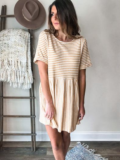 Sunnie Striped Shift Dress