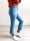 Shy Girl High Rise Crop Flare Denim