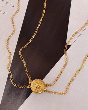 Bracha Isadora Double Chain Necklace