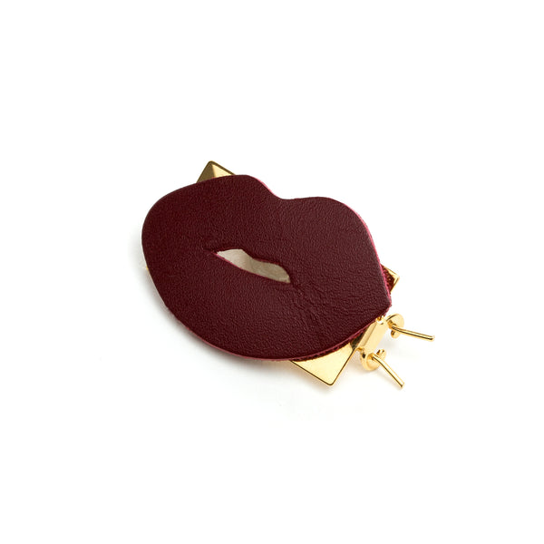 Barrette Amour bordeaux