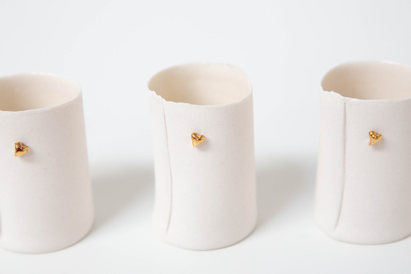 'Heart of Gold' Tea light holder