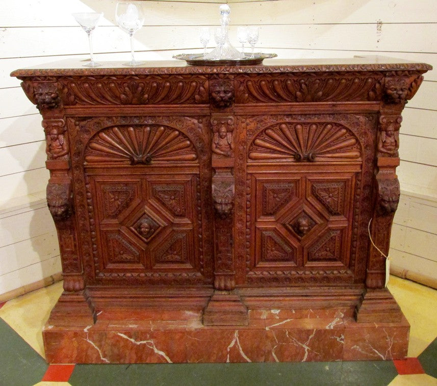 Converted Black Forest Sideboard Bar - Circa 1800s