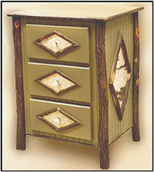 Triple Drawer Night Stand