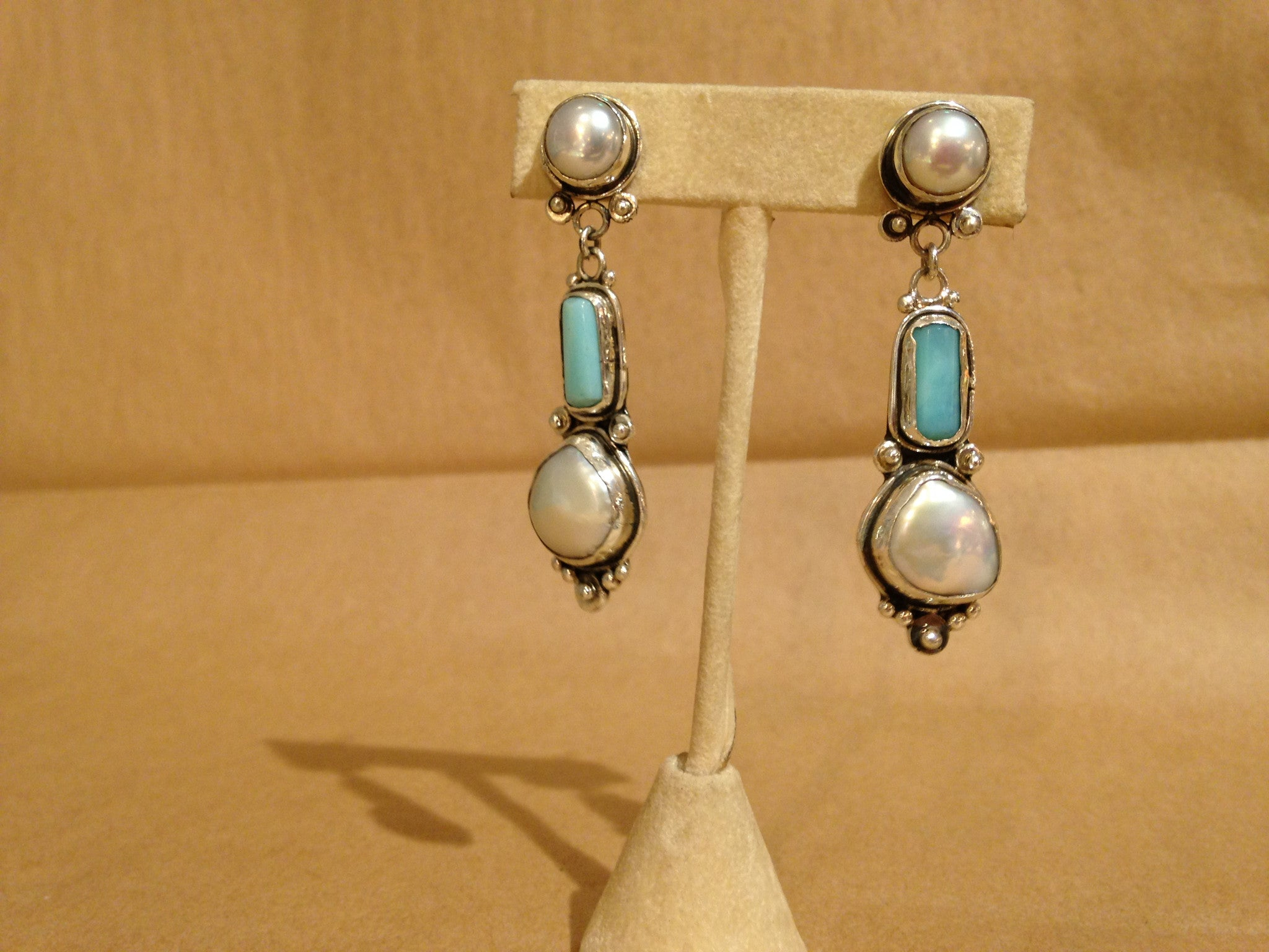 Margie Hiestand's Pearls with Blue Opal
