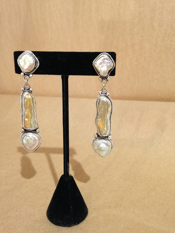 Margie Hiestand's Pearls with Twisted Surround Silver