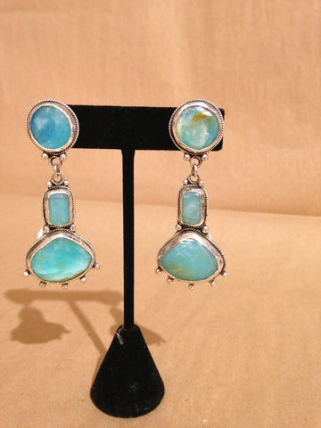 Margie Hiestand - Blue Opal Earrings