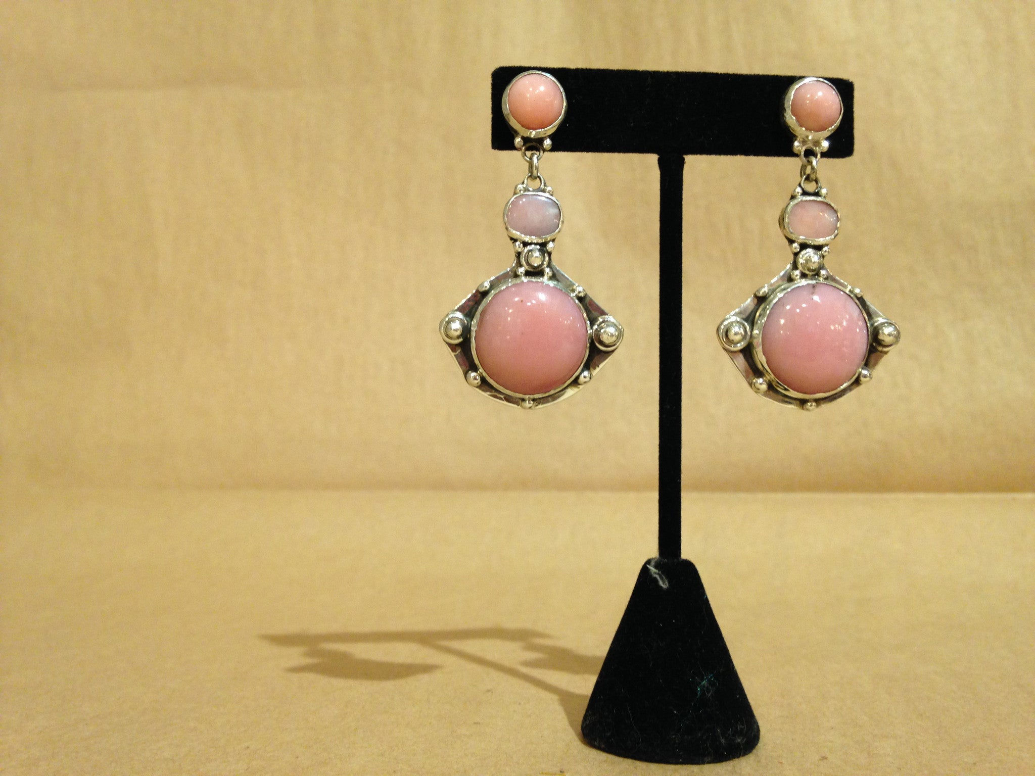 Margie Hiestand's Pink Opal Earrings