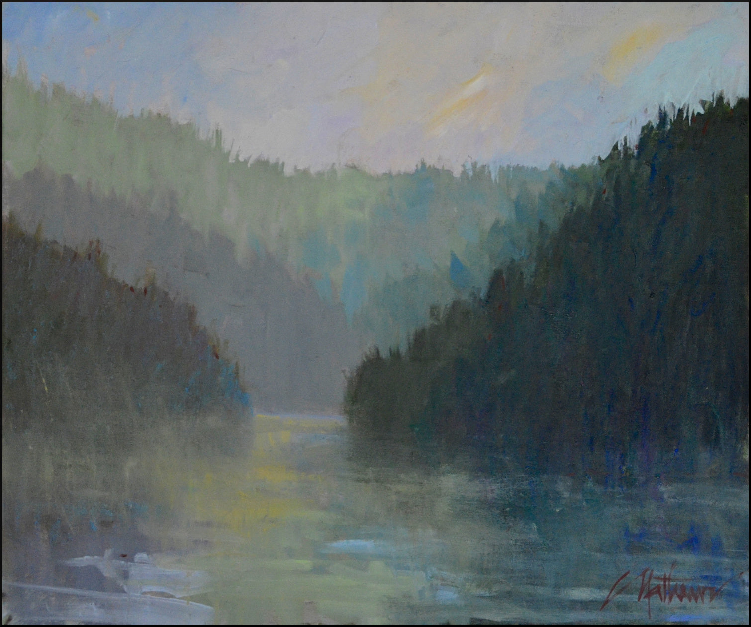 "Libby Mathews - Morning Mist (23"" x 27"")"