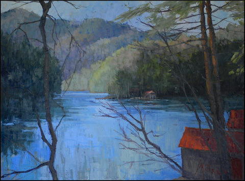 "Libby Mathews - Across The Lake (36"" x 47"")"