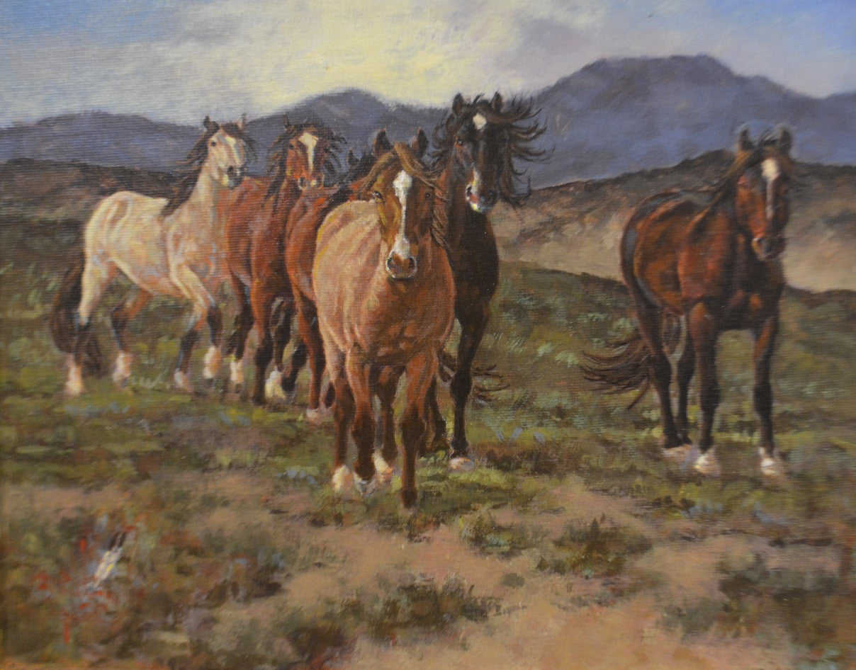 Bob Moline - Born Free - Oil on Canvas Painting