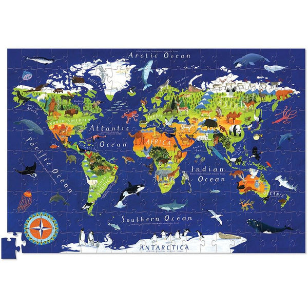 World Animals Poster & Puzzle
