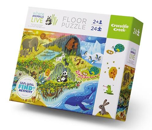 Early Learning Puzzle: Where Animals Live