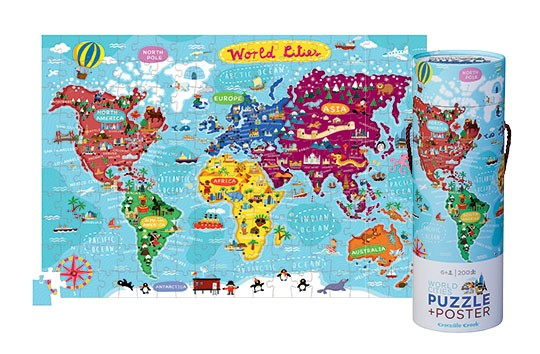 World mCities Poster and  Puzzle
