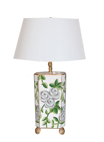 White Chintz Lamp, Small