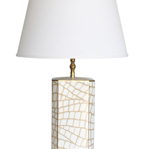 White Croc Lamp, Small