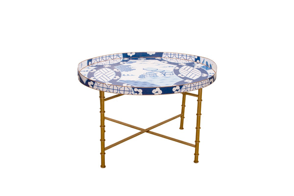 Canton in Blue Tray Table
