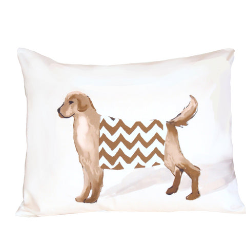 White Dog Pillow