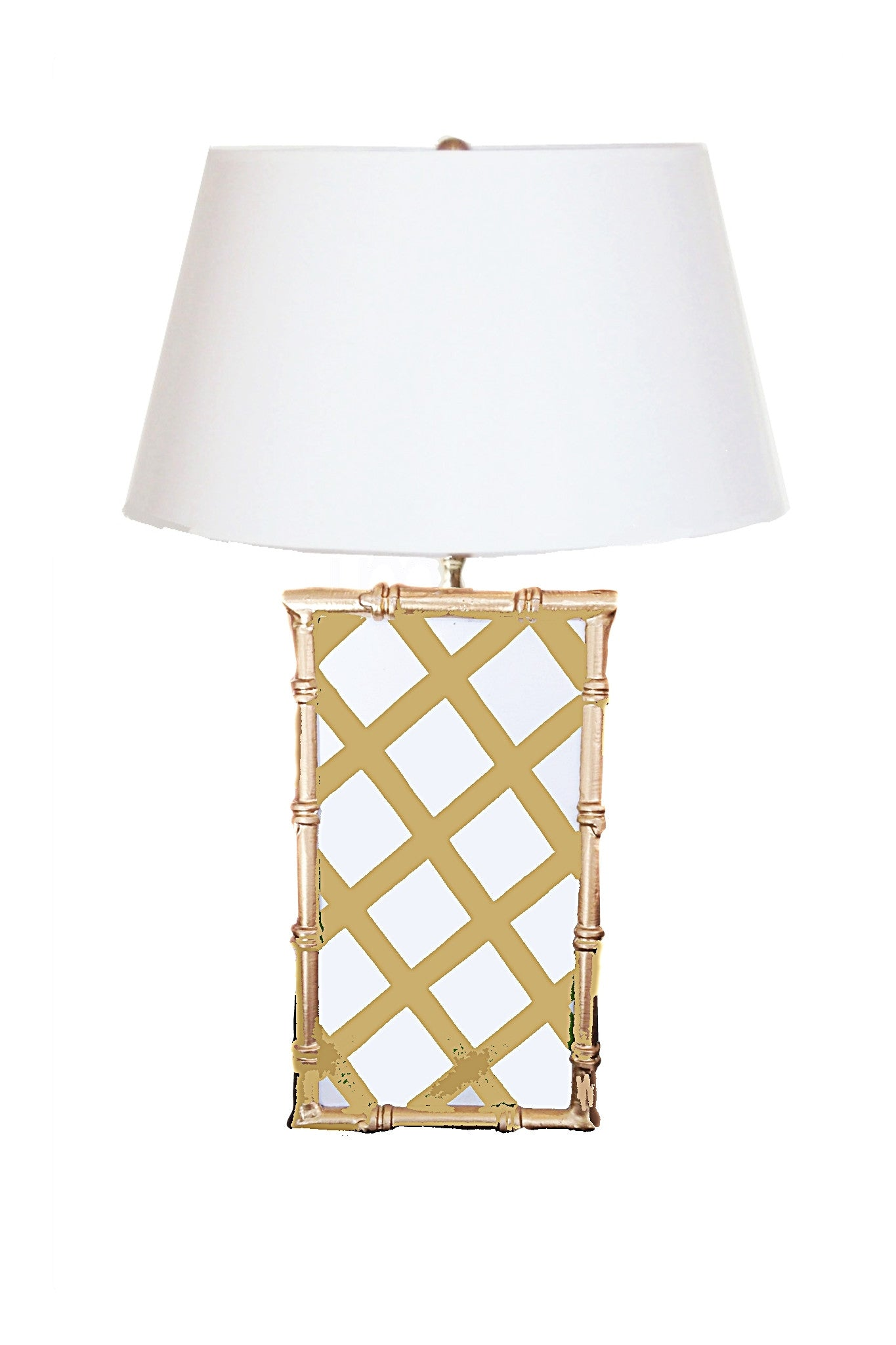Copy of Bamboo Lamp  in Taupe Lattice