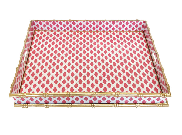Bamboo in Parsi Pink Serving Tray