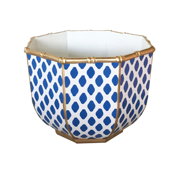 Bamboo Bowl in Parsi Navy, Large