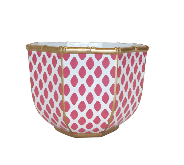 Bamboo Bowl in Parsi Pink, Large