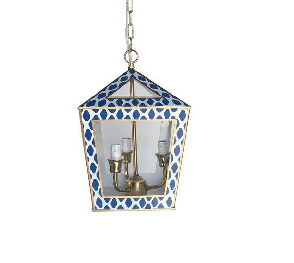 Tucker Lantern in Navy Parsi