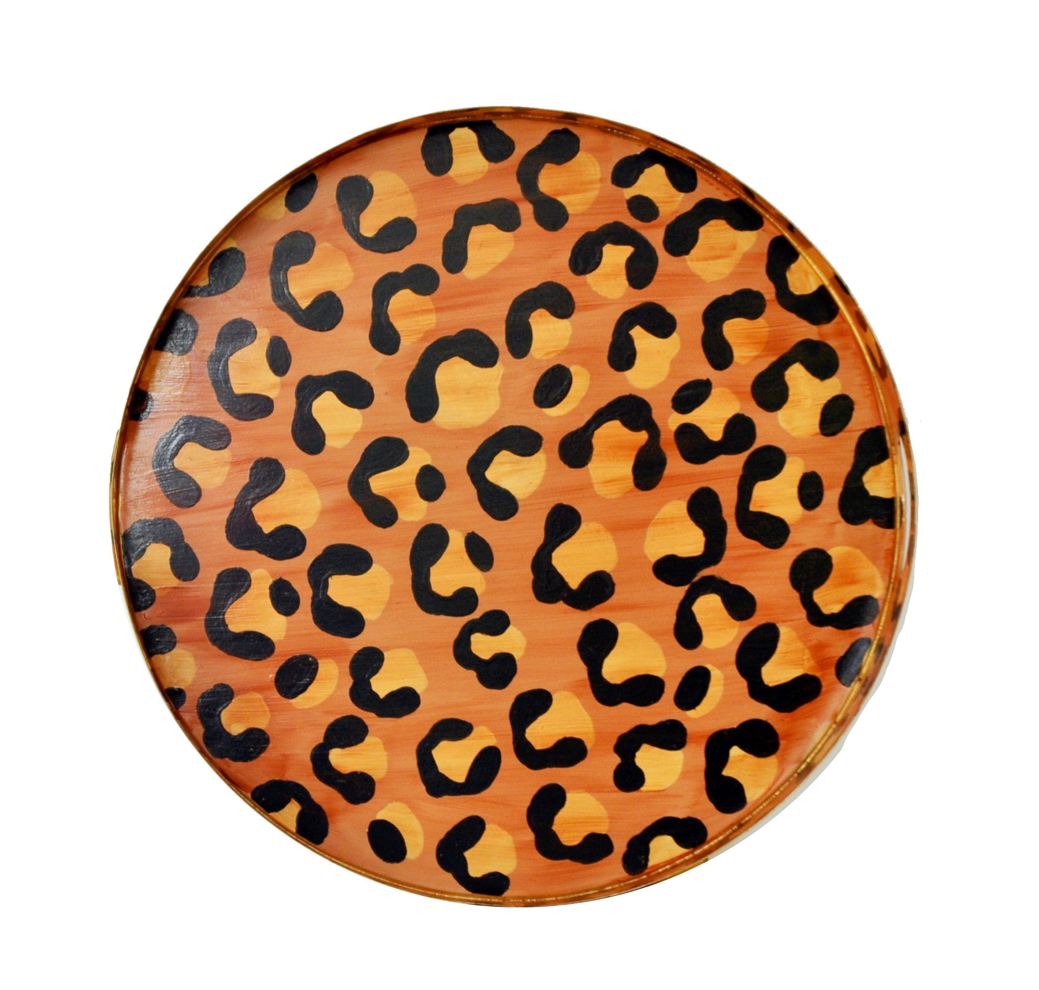 Brown Leopard Tray, Small