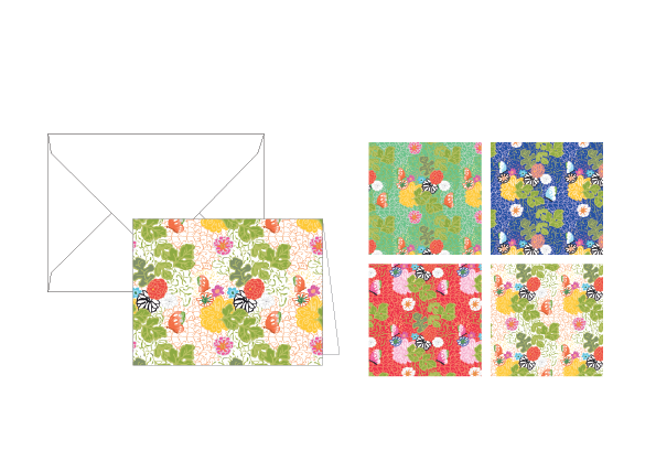Kimono Assorted Folded Notes