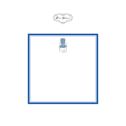 Nance Chair Notepad-Blue