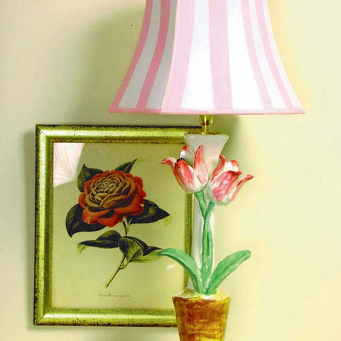 Tulipa Lamp with Pink Shade