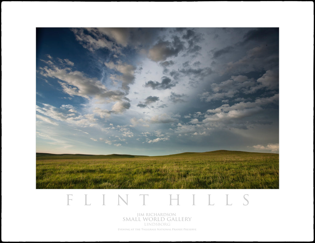 Evening at the Tallgrass National Prairie Preserve - Flint Hills of KS