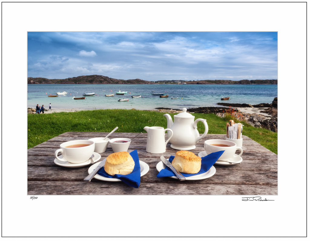 Tea at Argyle Hotel, Isle of Iona, Scotland