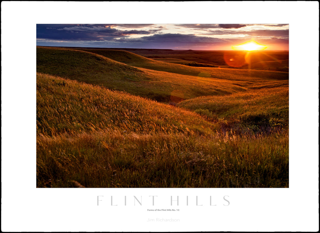 Golden Hills Sunset - Flint Hills of KS